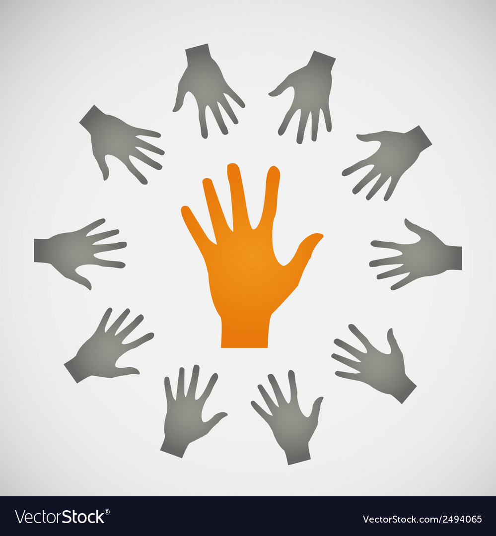 Flat icon hands color abstraction eps vector   Price: 1 Credit (USD $1)