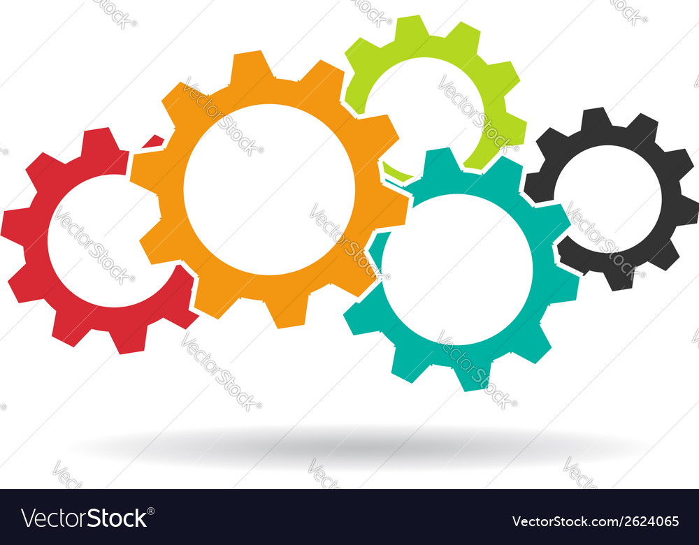 Gears logo concept of teamwork vector | Price: 1 Credit (USD $1)