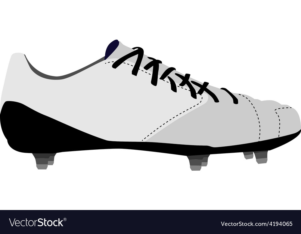 White football shoe vector | Price: 1 Credit (USD $1)