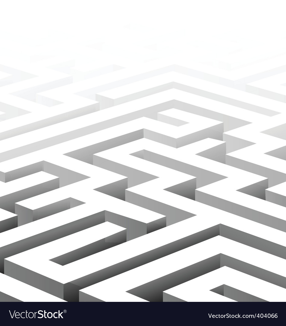 3d maze vector | Price: 1 Credit (USD $1)