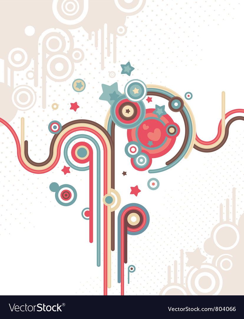 Abstract retro background vector | Price: 1 Credit (USD $1)