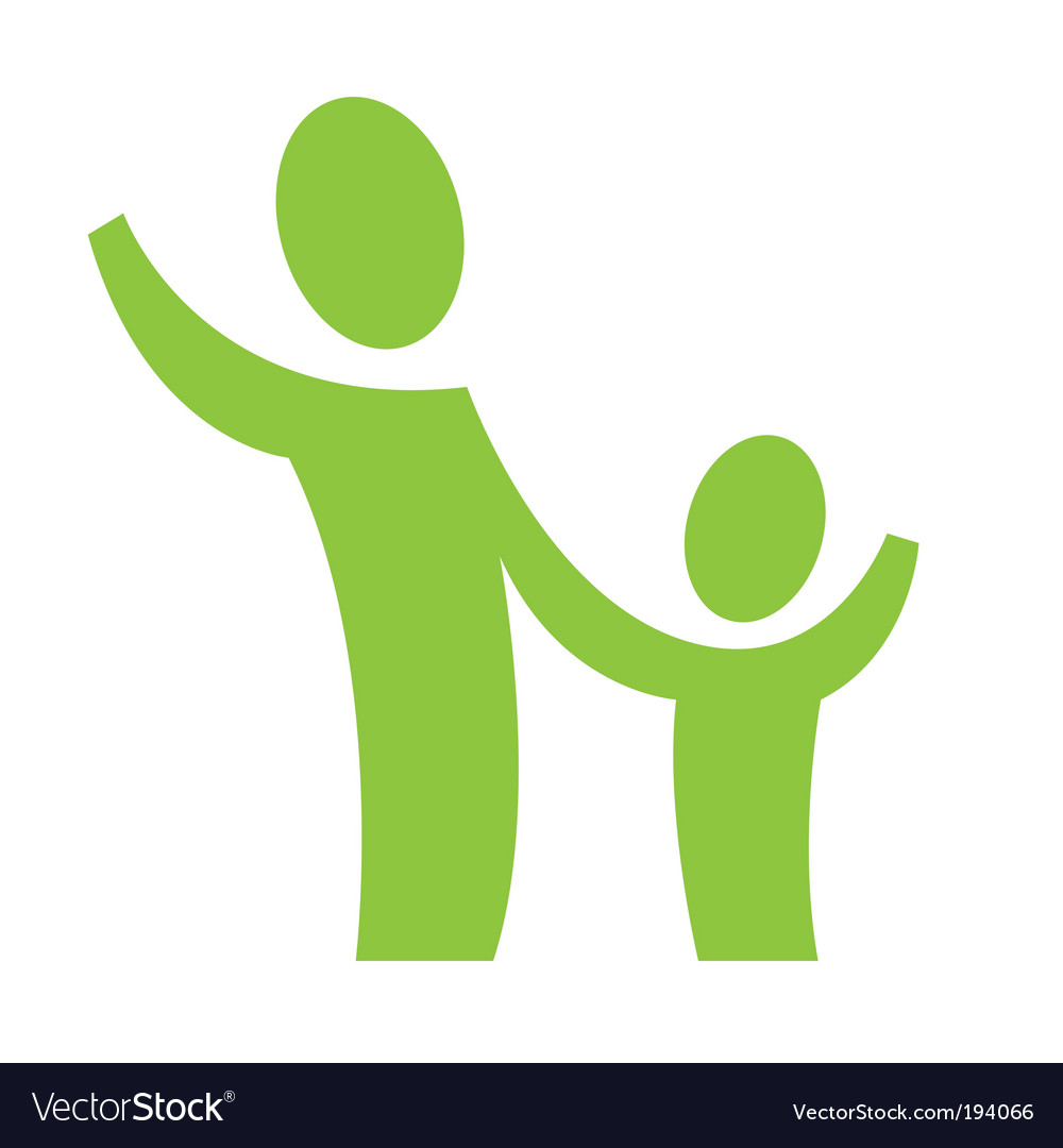 Adult and child vector | Price: 1 Credit (USD $1)