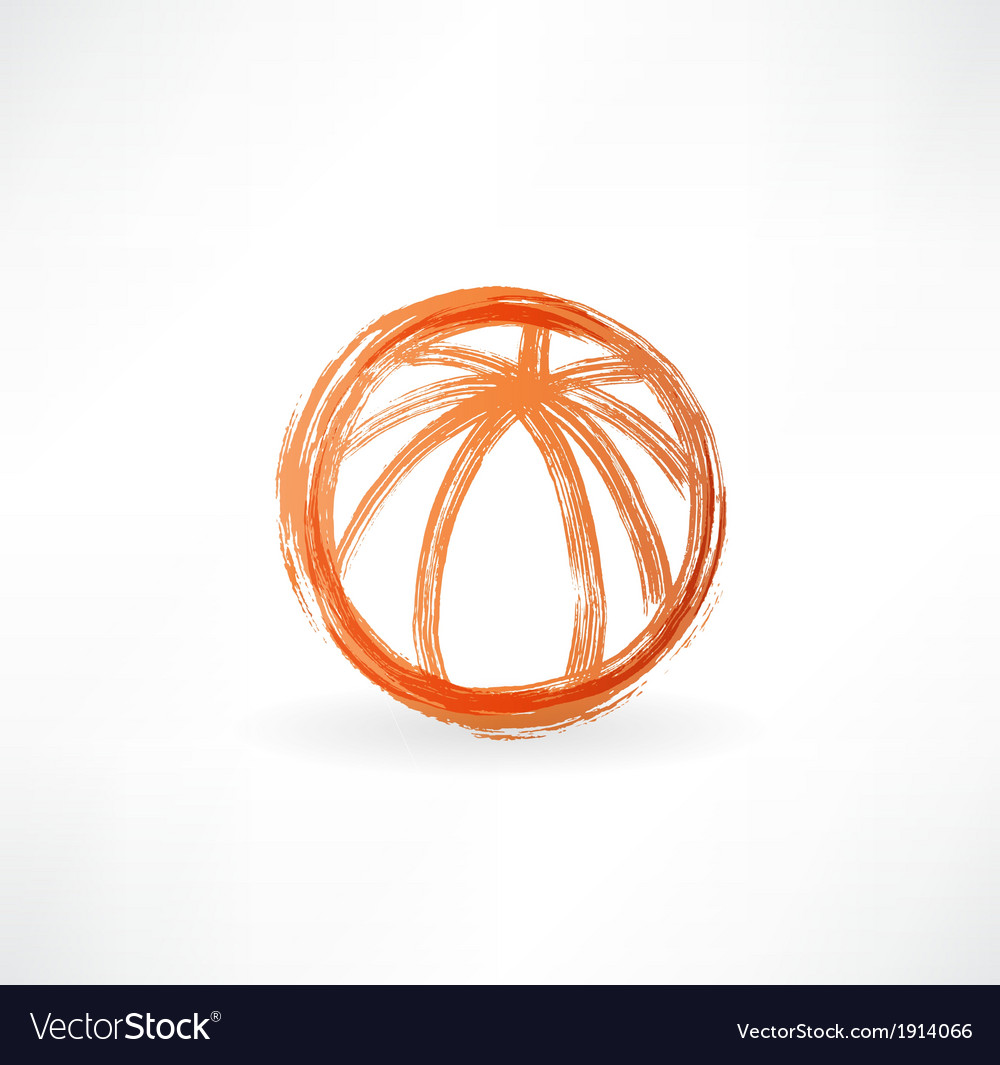 Basketball ball grunge icon vector | Price: 1 Credit (USD $1)