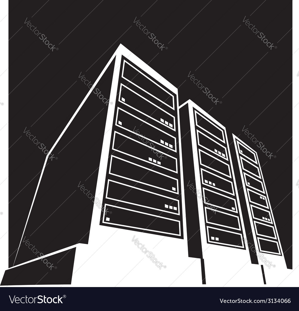 Data center black vector | Price: 1 Credit (USD $1)
