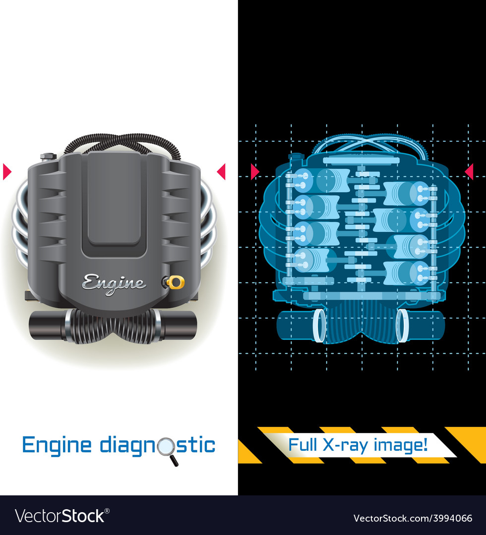 Engine diagnostic full x ray vector | Price: 3 Credit (USD $3)