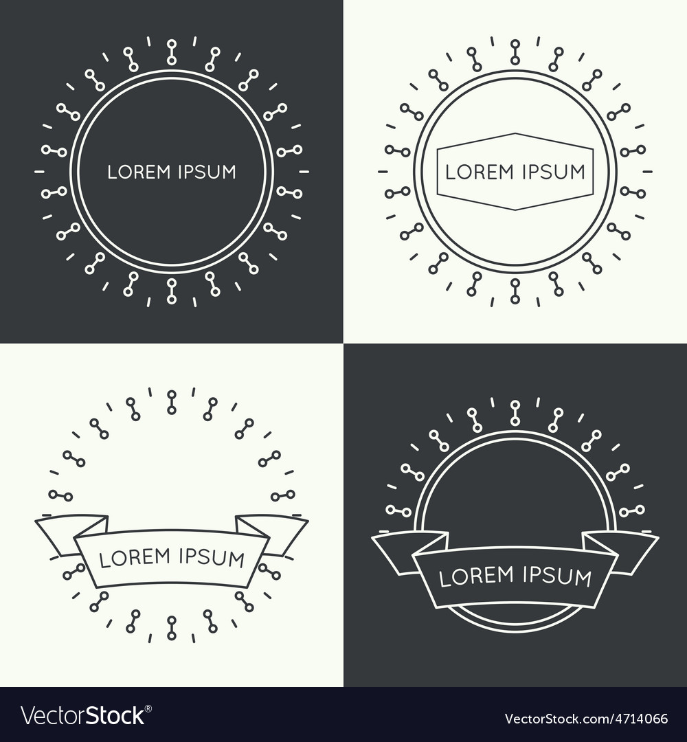 Set of vintage banners vector | Price: 1 Credit (USD $1)