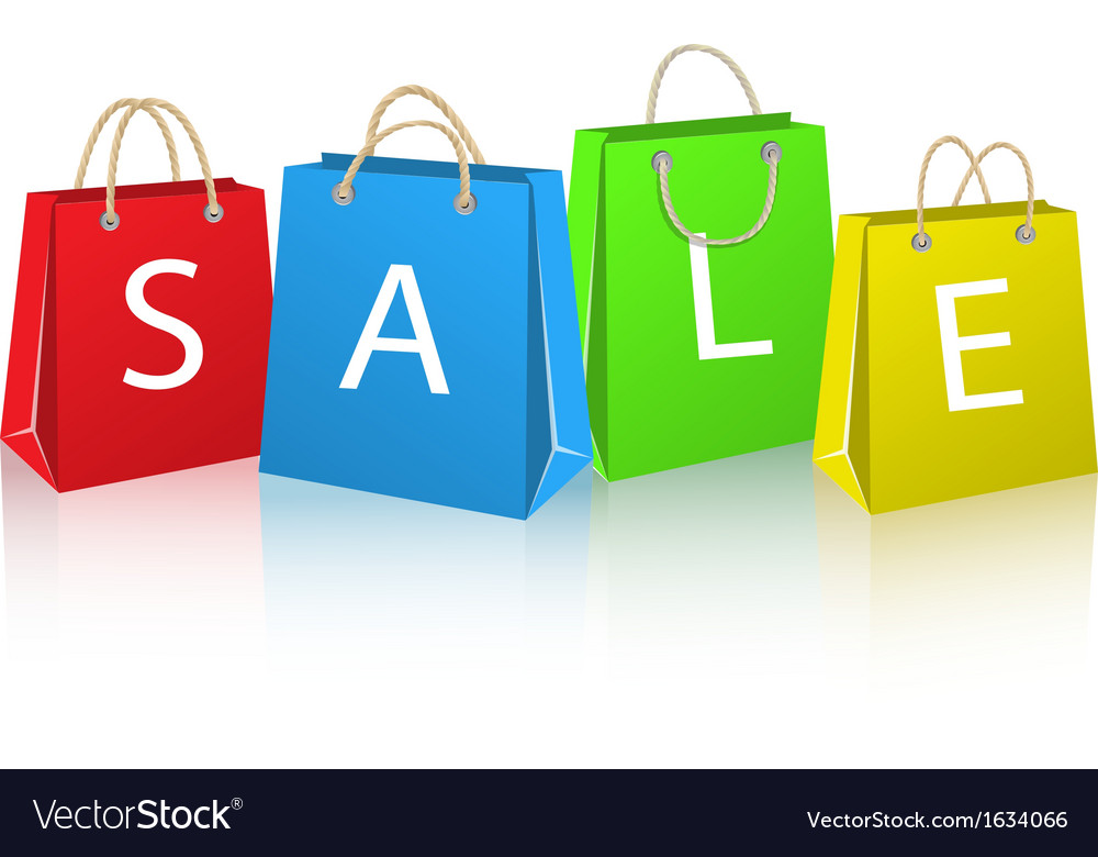Shopping bags for sale vector | Price: 1 Credit (USD $1)