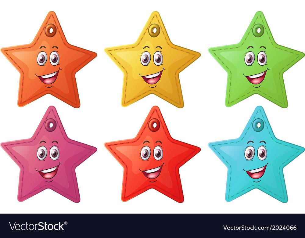 Smiling stars vector | Price: 1 Credit (USD $1)