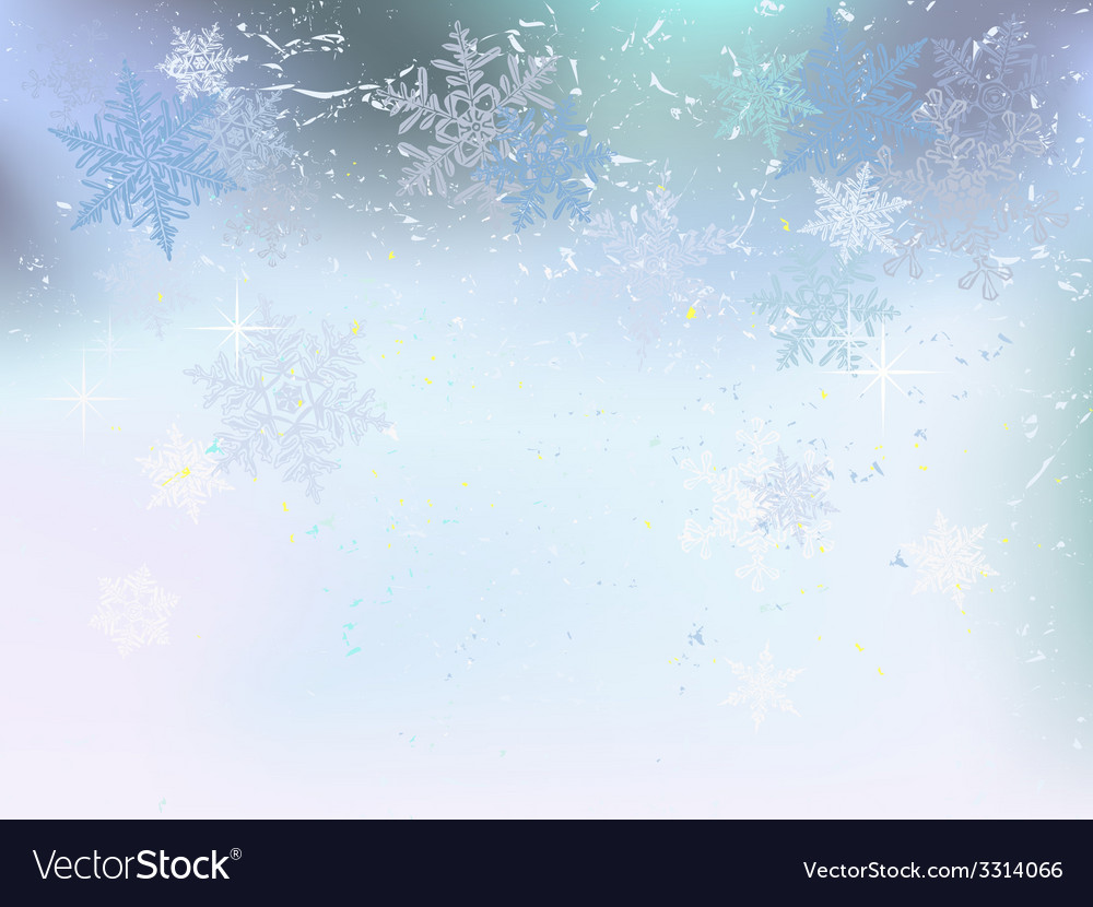 Winter background snowflakes hoarfrost vector | Price: 1 Credit (USD $1)