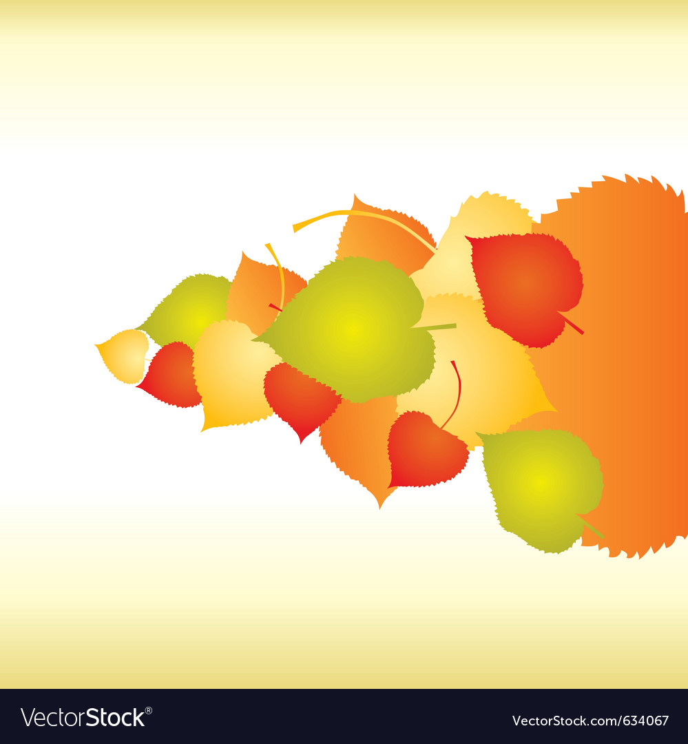 Abstract backgrounds with fall leafs vector | Price: 1 Credit (USD $1)
