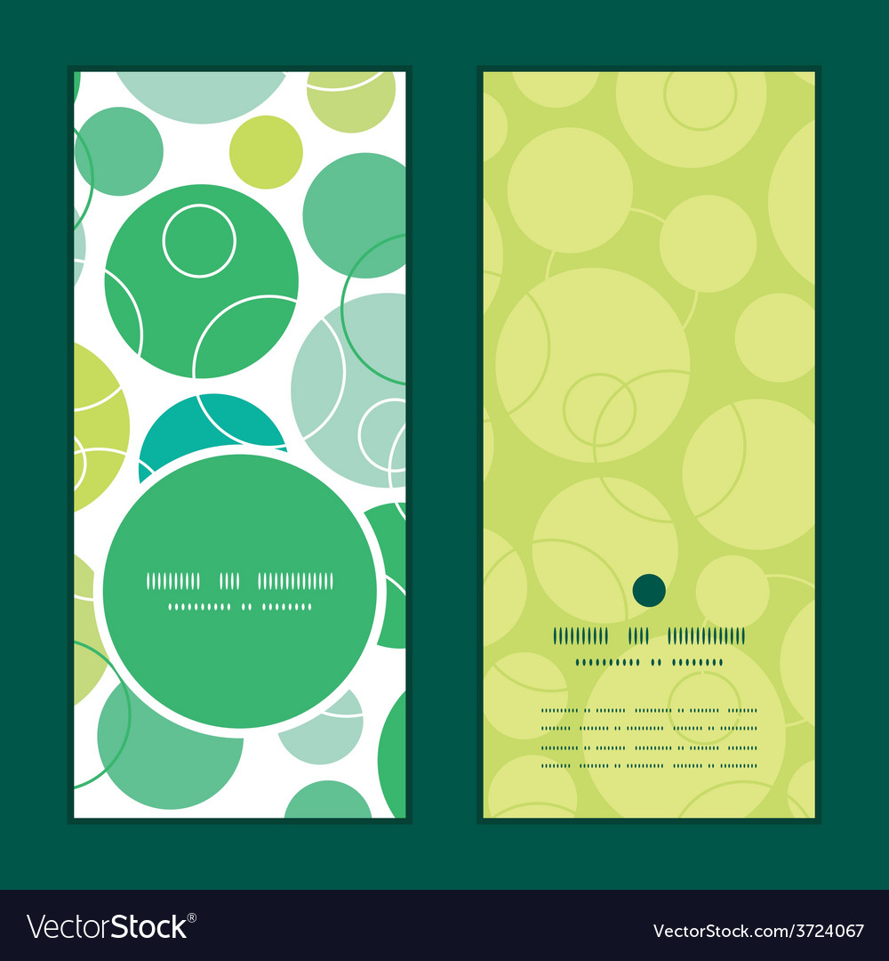 Abstract green circles vertical round frame vector | Price: 1 Credit (USD $1)