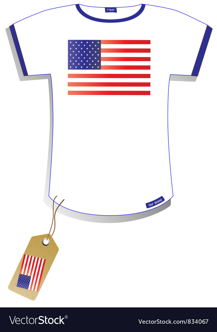 American flag t-shirt vector | Price: 1 Credit (USD $1)