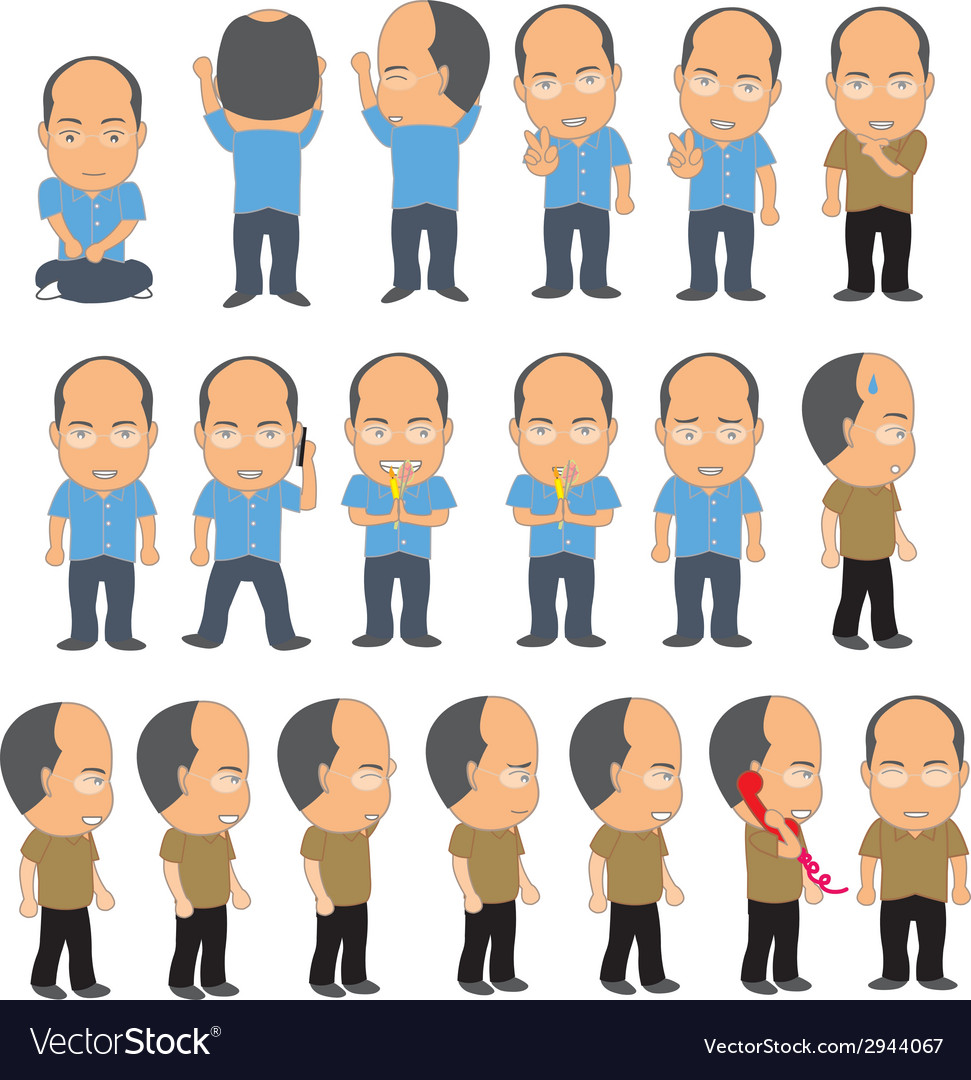 Bald man vector | Price: 1 Credit (USD $1)