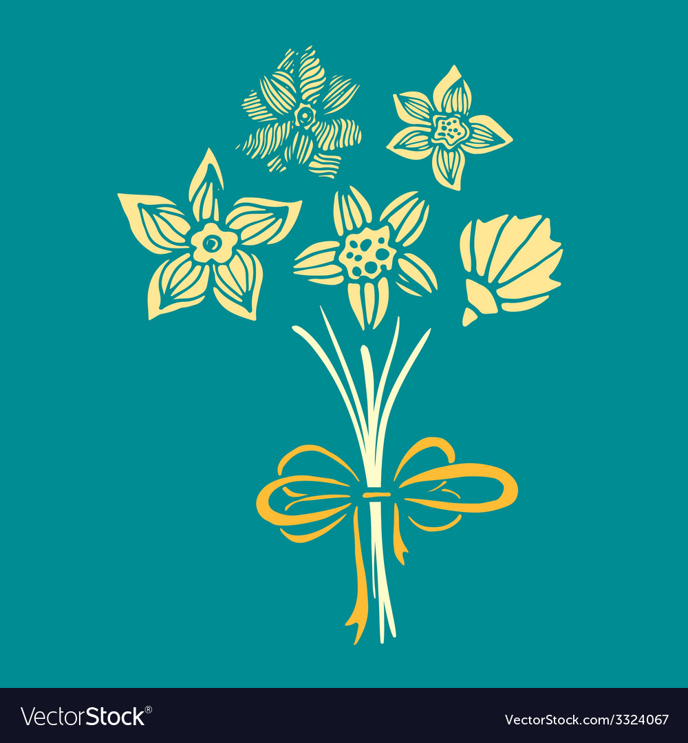 Bowandflowers3 vector | Price: 1 Credit (USD $1)