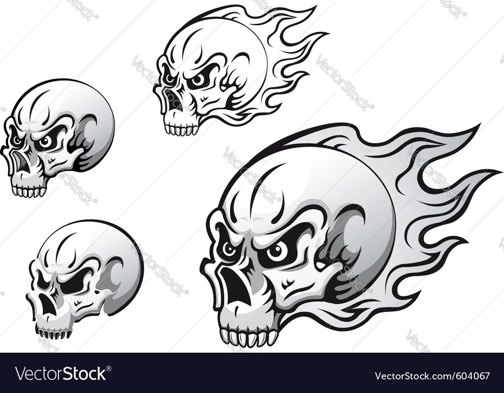 Danger evil skulls vector   Price: 1 Credit (USD $1)