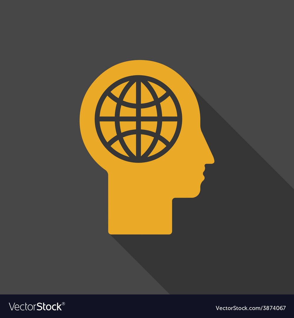 Human head - global technology vector | Price: 1 Credit (USD $1)