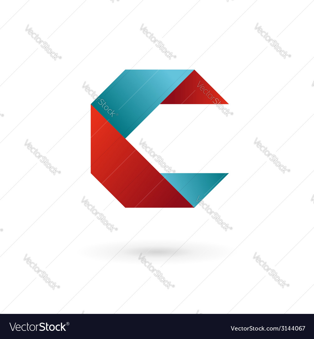 Letter c ribbon logo icon design template elements vector | Price: 1 Credit (USD $1)