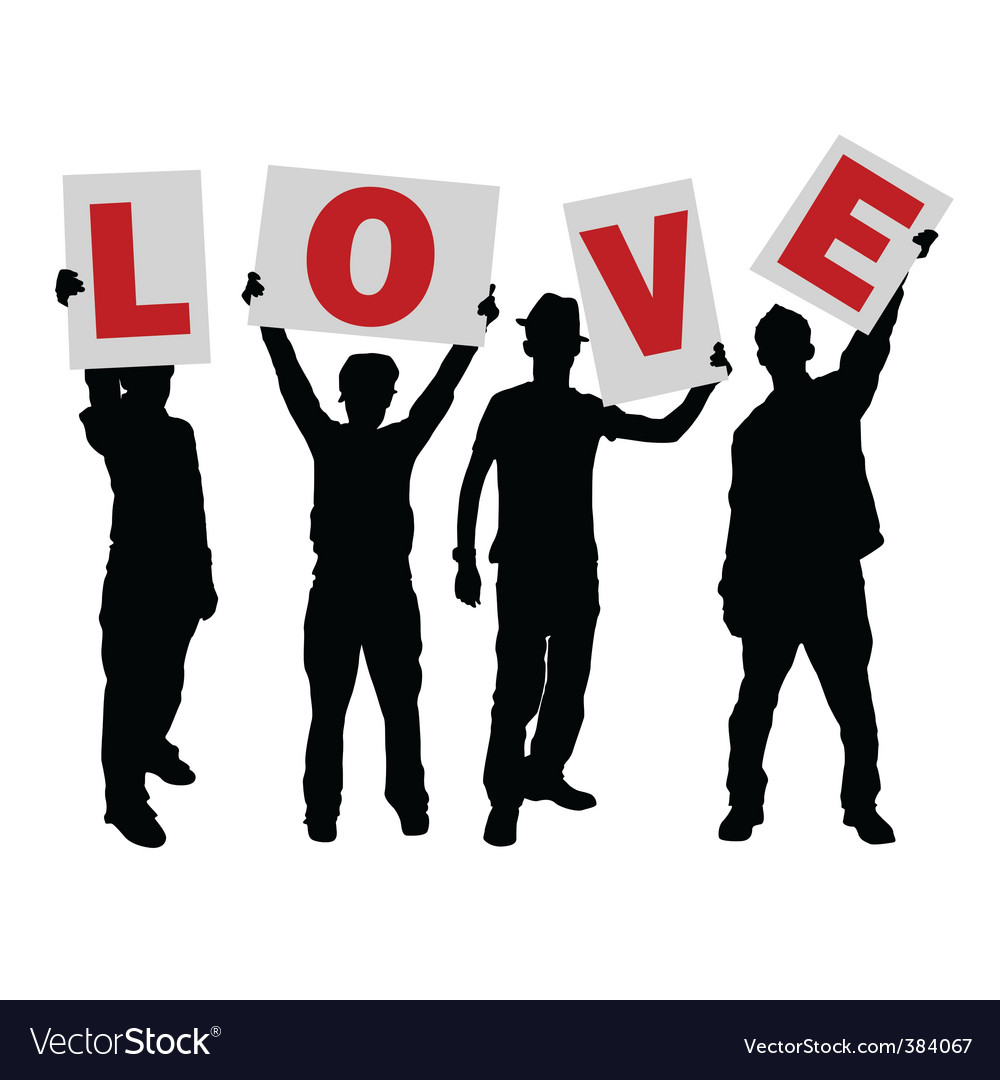 Love message sign vector | Price: 1 Credit (USD $1)
