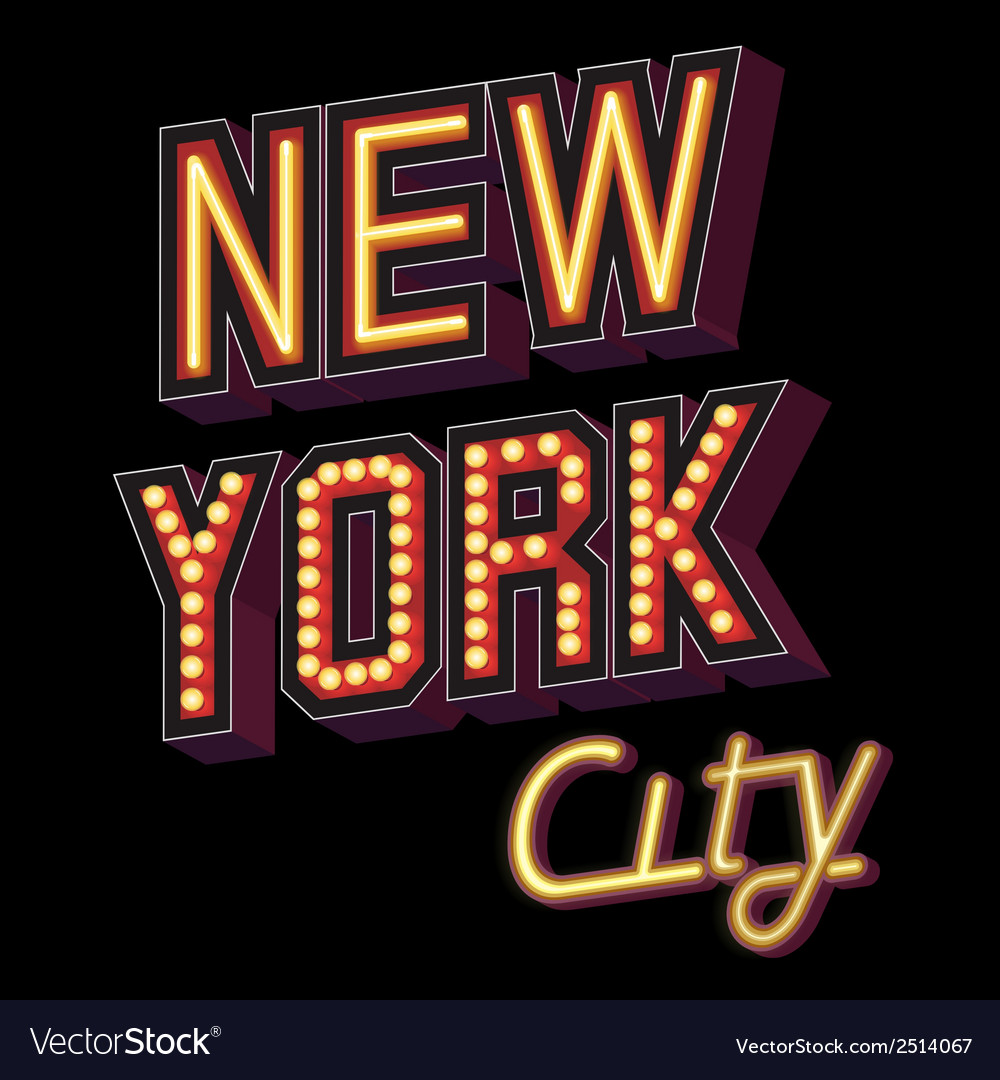 New york city lettering vector | Price: 1 Credit (USD $1)
