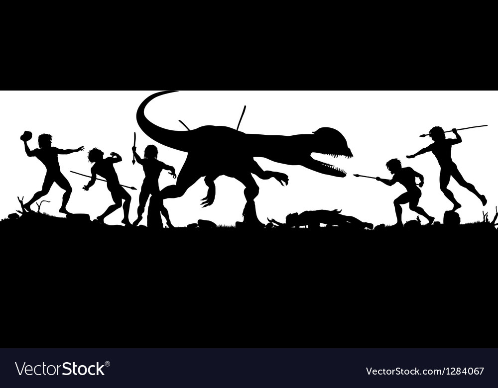 Prehistoric hunt vector | Price: 1 Credit (USD $1)