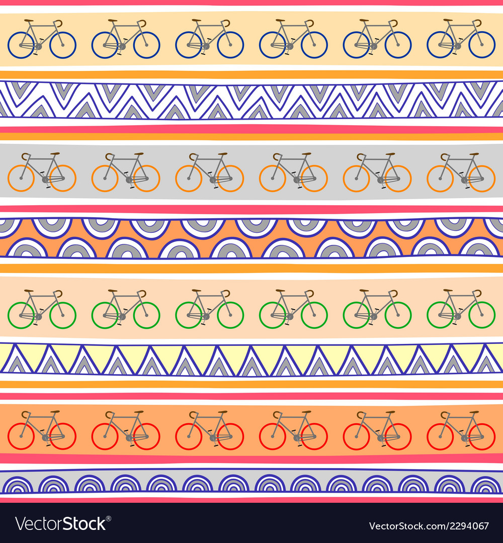 Seamless bicycle pattern background1 vector | Price: 1 Credit (USD $1)
