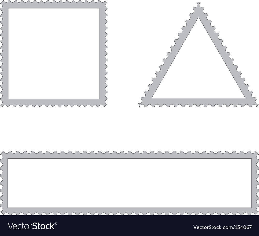 Set of empty postal stamps vector | Price: 1 Credit (USD $1)