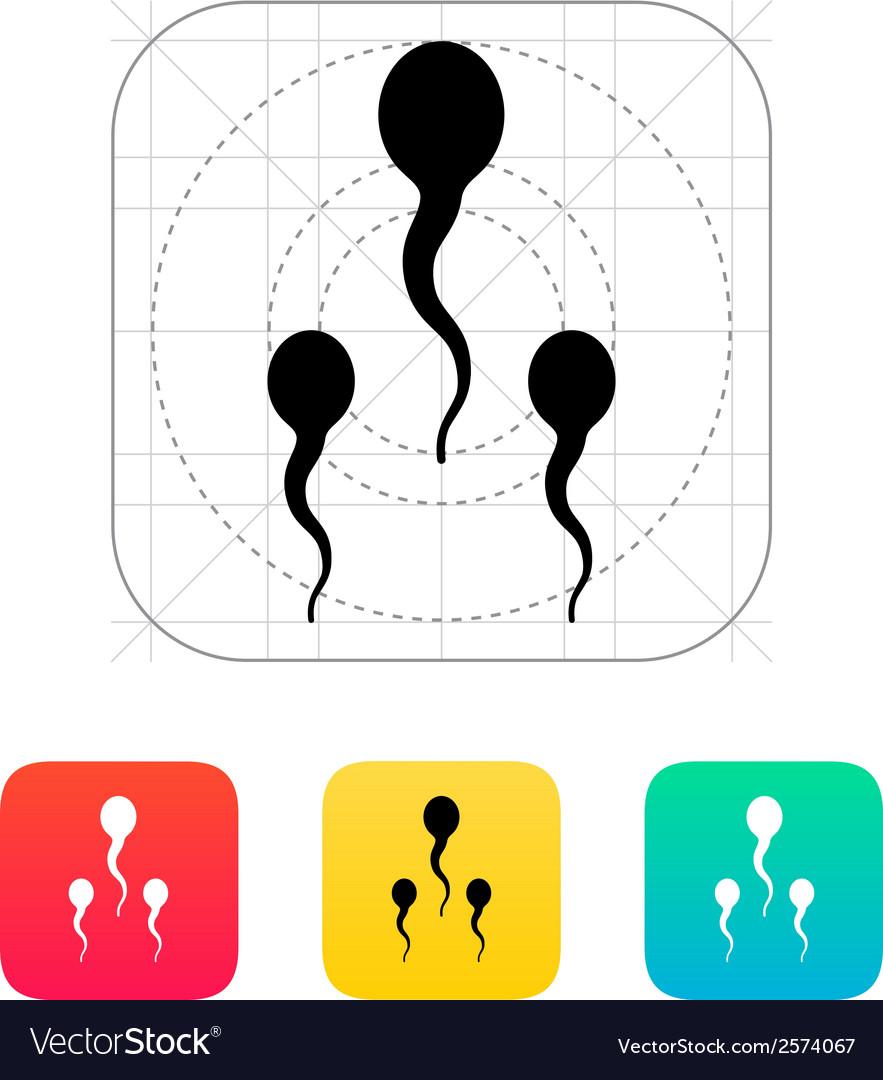 Spermatozoids icon vector | Price: 1 Credit (USD $1)