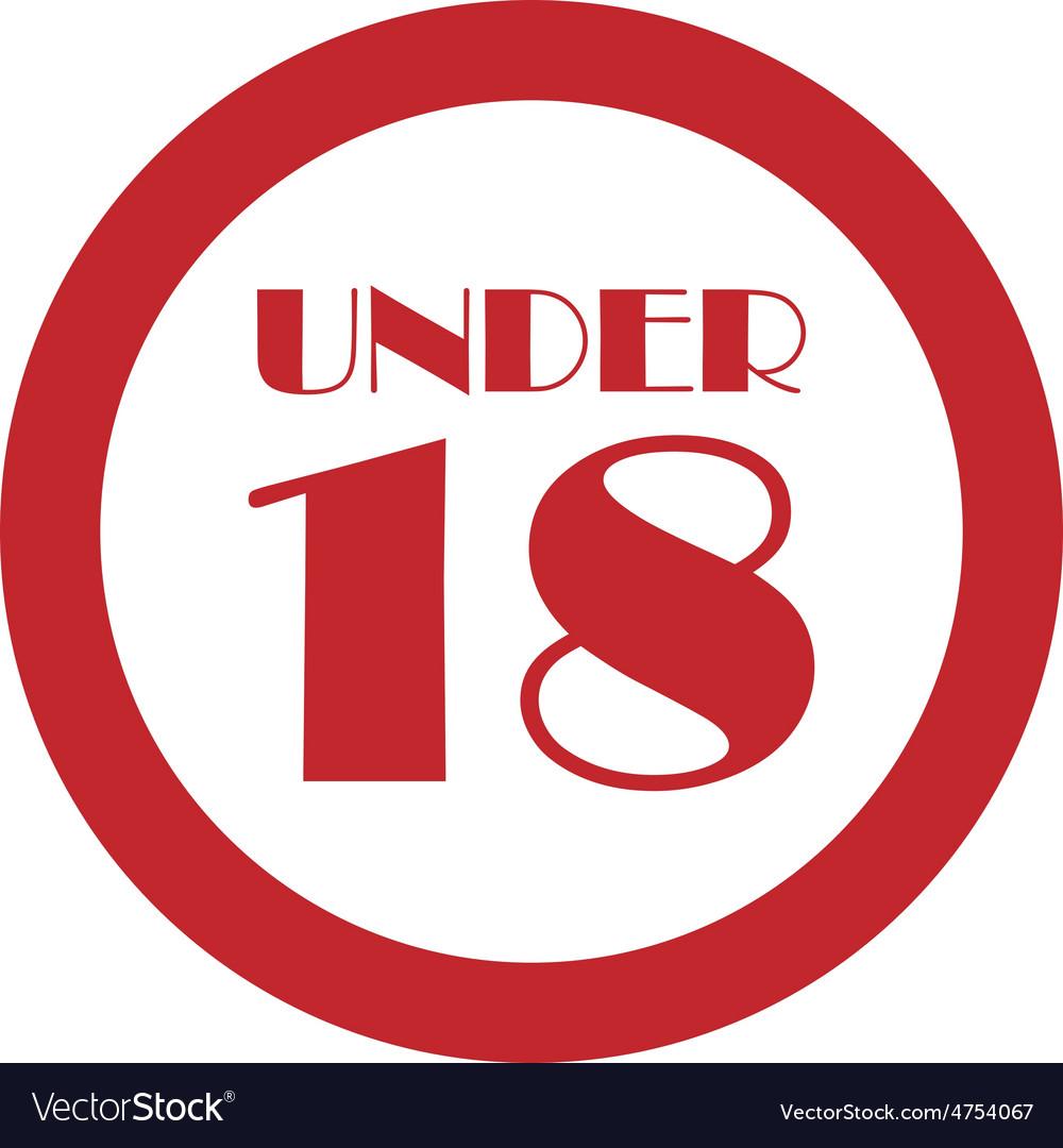 Under 18 vector | Price: 1 Credit (USD $1)