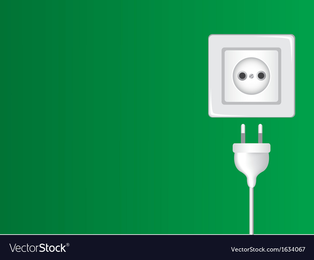 White socket and plug vector | Price: 1 Credit (USD $1)