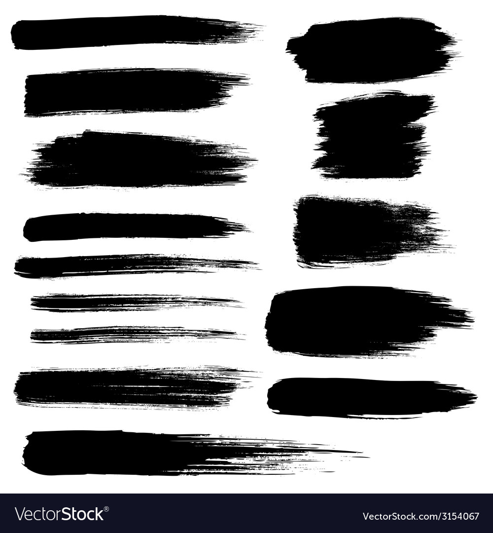 Zen brush stroke set vector