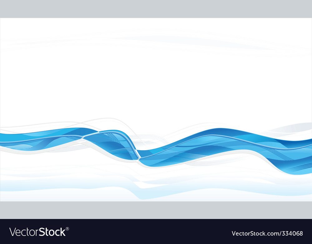Abstract blue waves background vector | Price: 1 Credit (USD $1)
