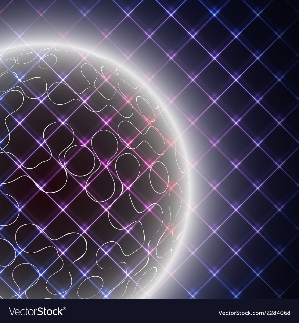 Abstract light sphere on black background vector | Price: 1 Credit (USD $1)