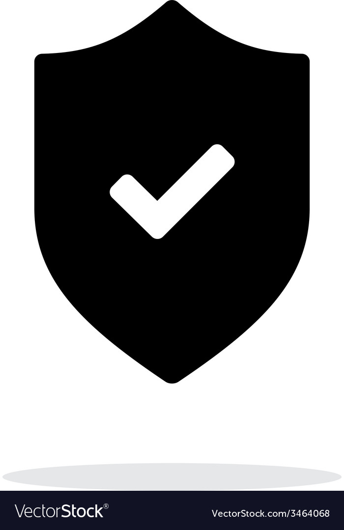 Accept shield icon on white background vector | Price: 1 Credit (USD $1)