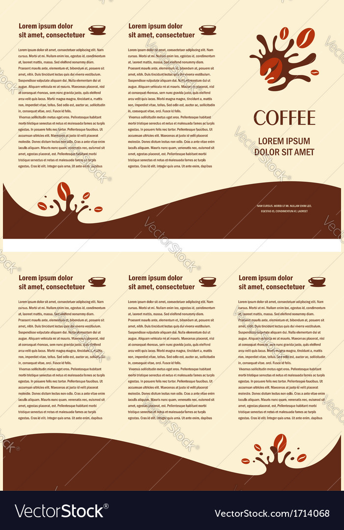 Brochure folder card coffee beans element design vector | Price: 1 Credit (USD $1)