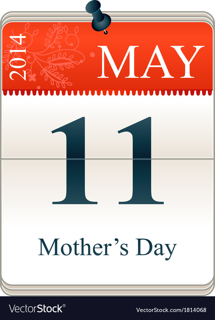 Calendar of mothers day 2014 vector | Price: 1 Credit (USD $1)