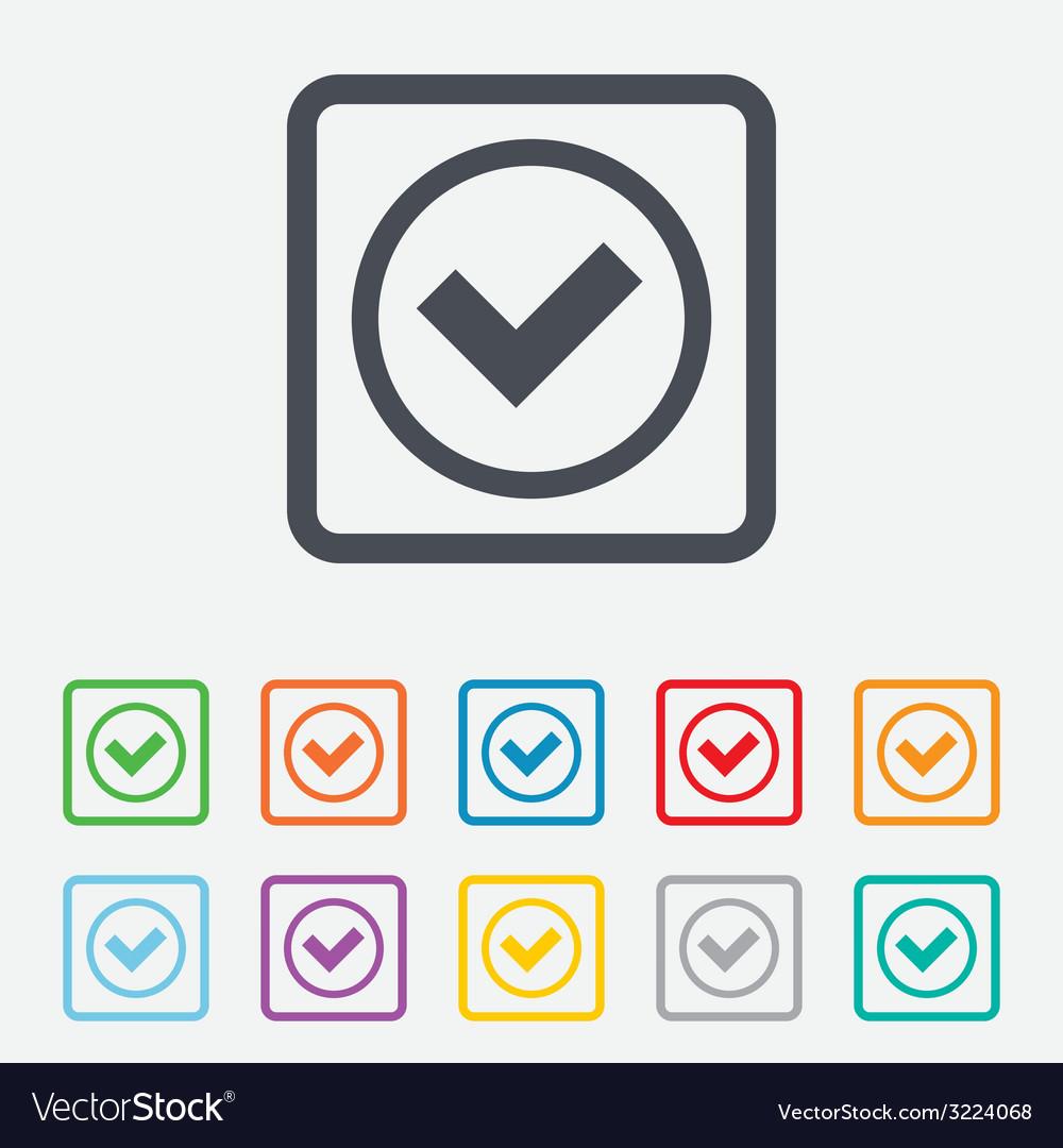 Check mark sign icon yes circle symbol vector   Price: 1 Credit (USD $1)