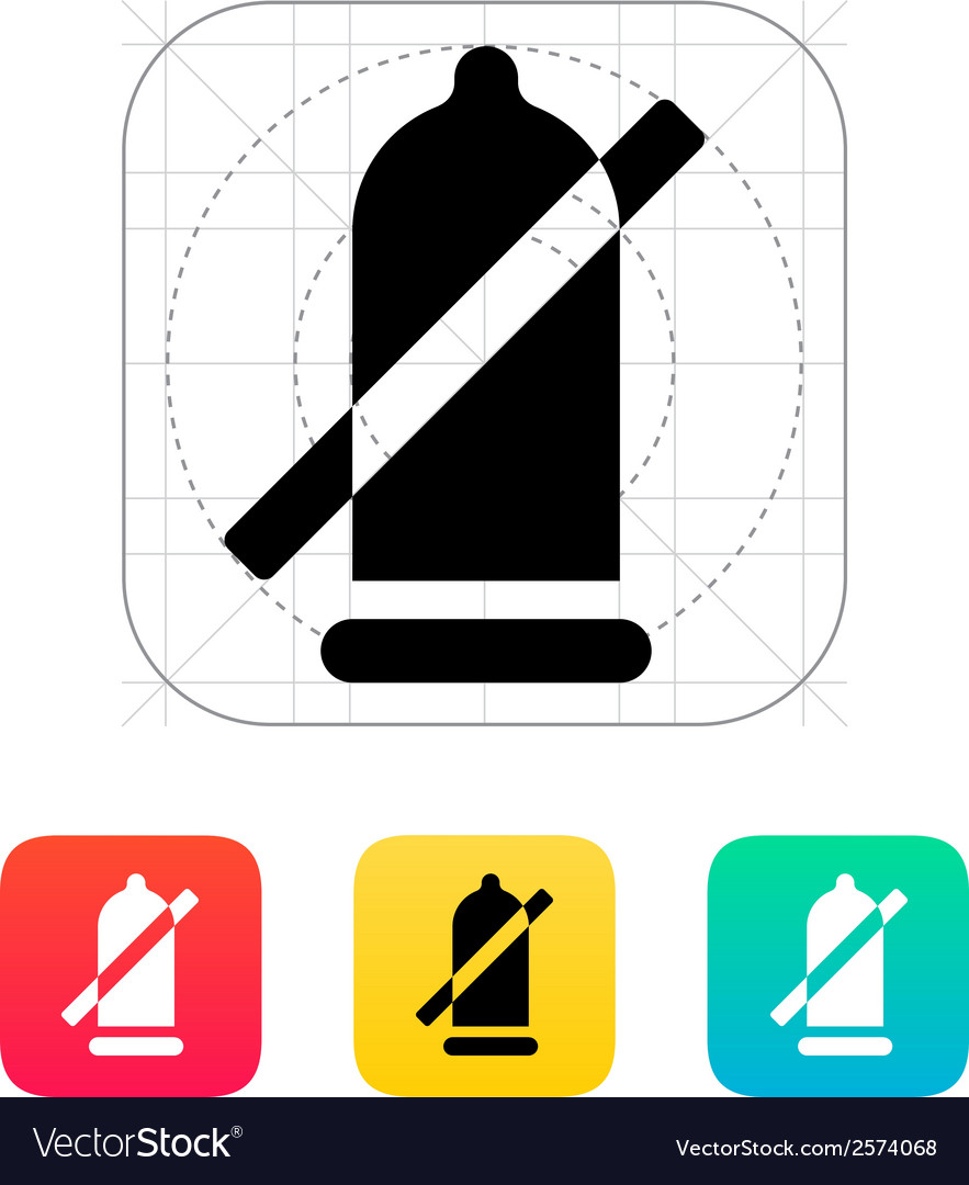 Condom ban icon vector | Price: 1 Credit (USD $1)