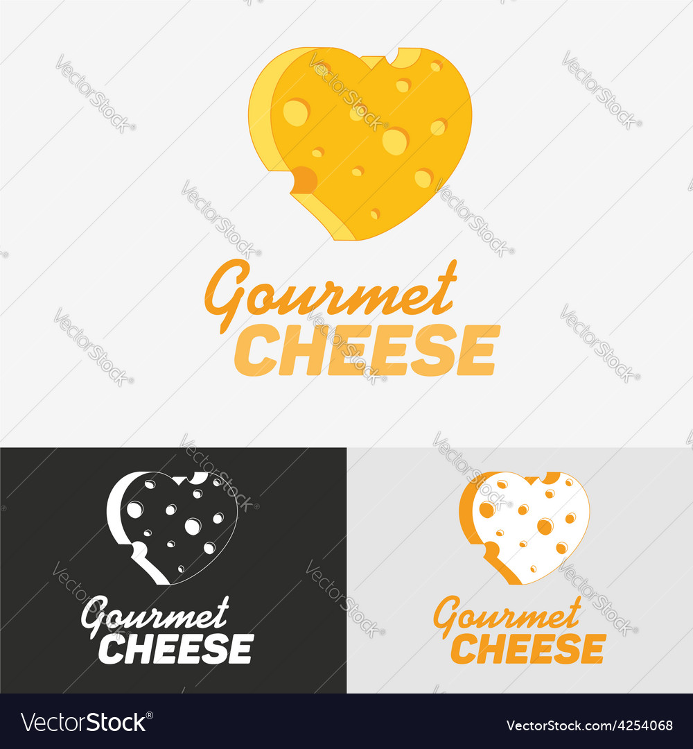 Gourmet cheese logo vector | Price: 1 Credit (USD $1)