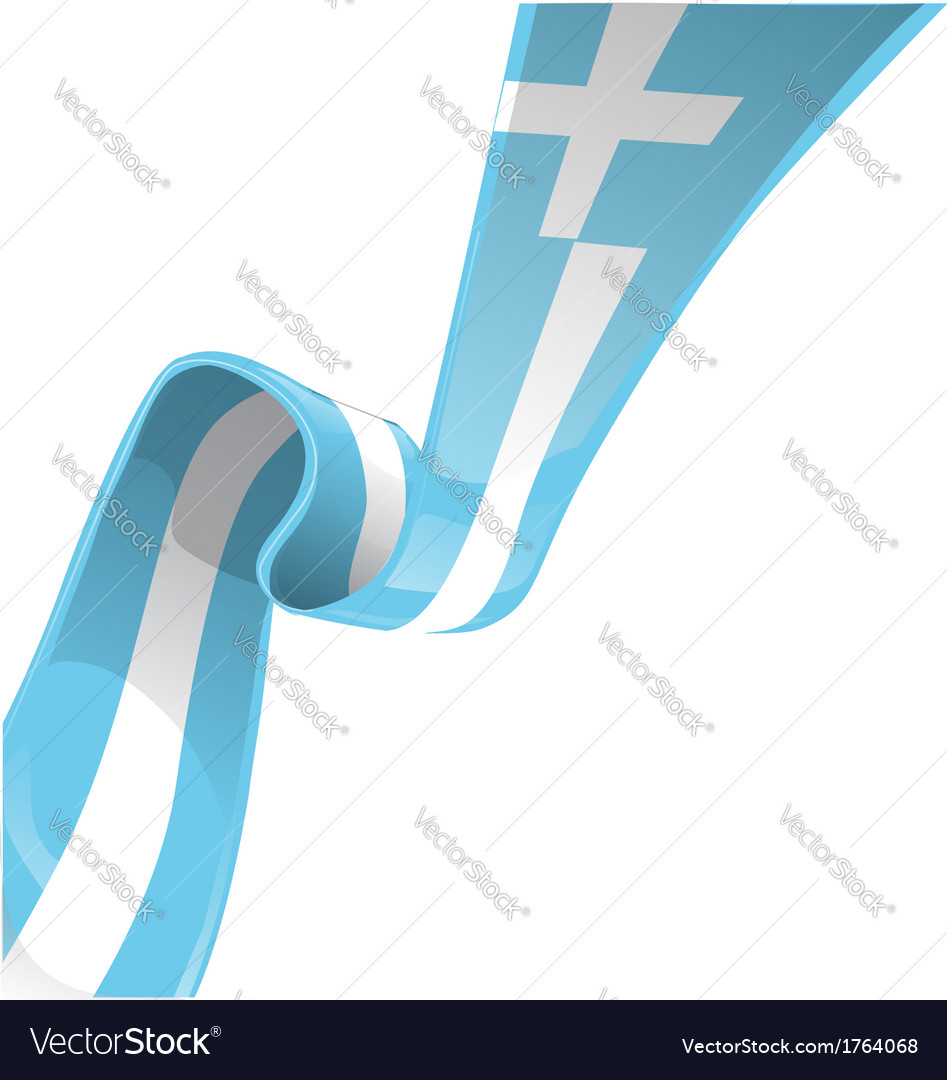 Greek ribbon flag vector | Price: 1 Credit (USD $1)