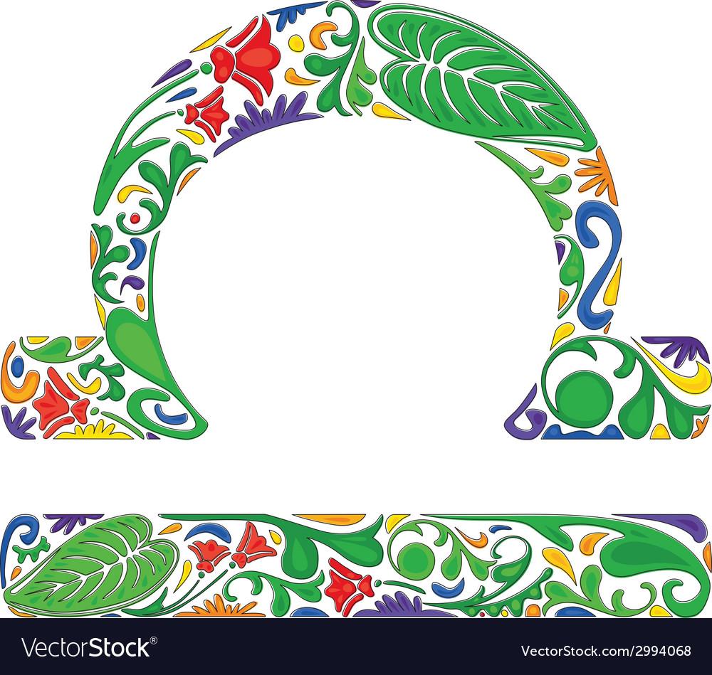 Libra zodiac sign vector | Price: 1 Credit (USD $1)