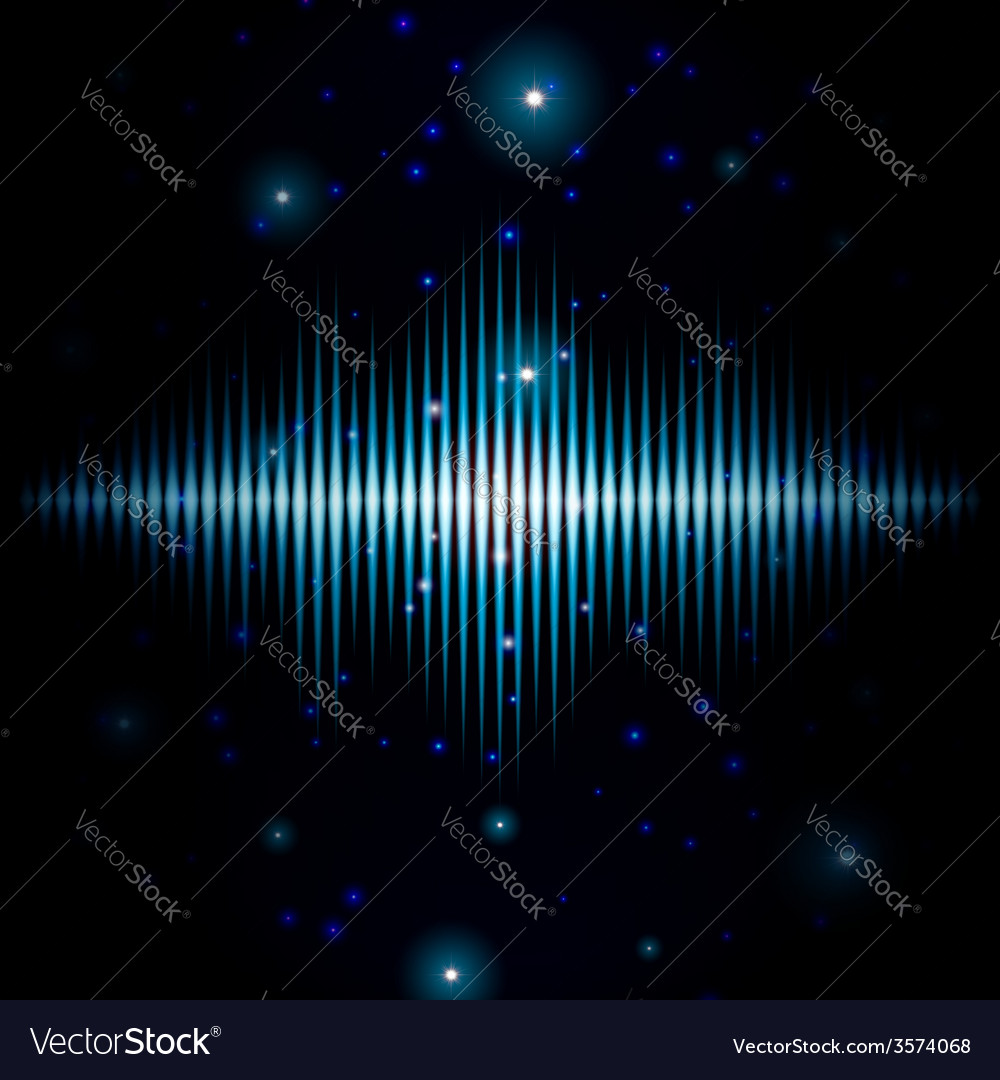 Mystic shiny blurred sound sign with sparkles vector | Price: 1 Credit (USD $1)