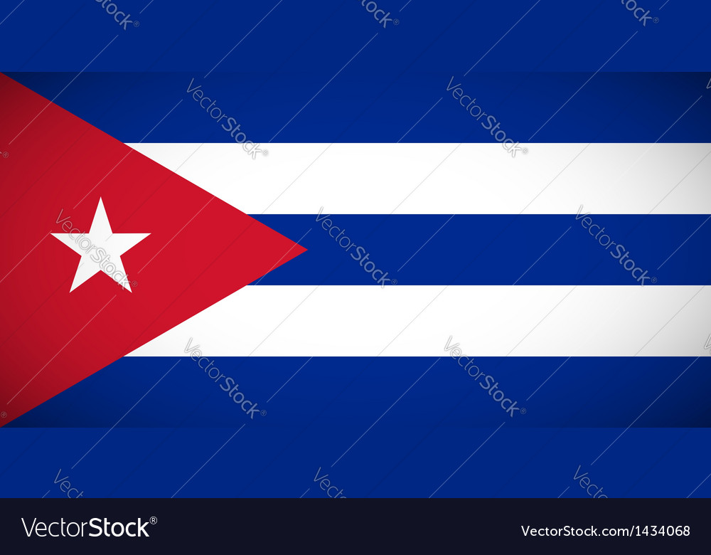 National flag of cuba vector | Price: 1 Credit (USD $1)
