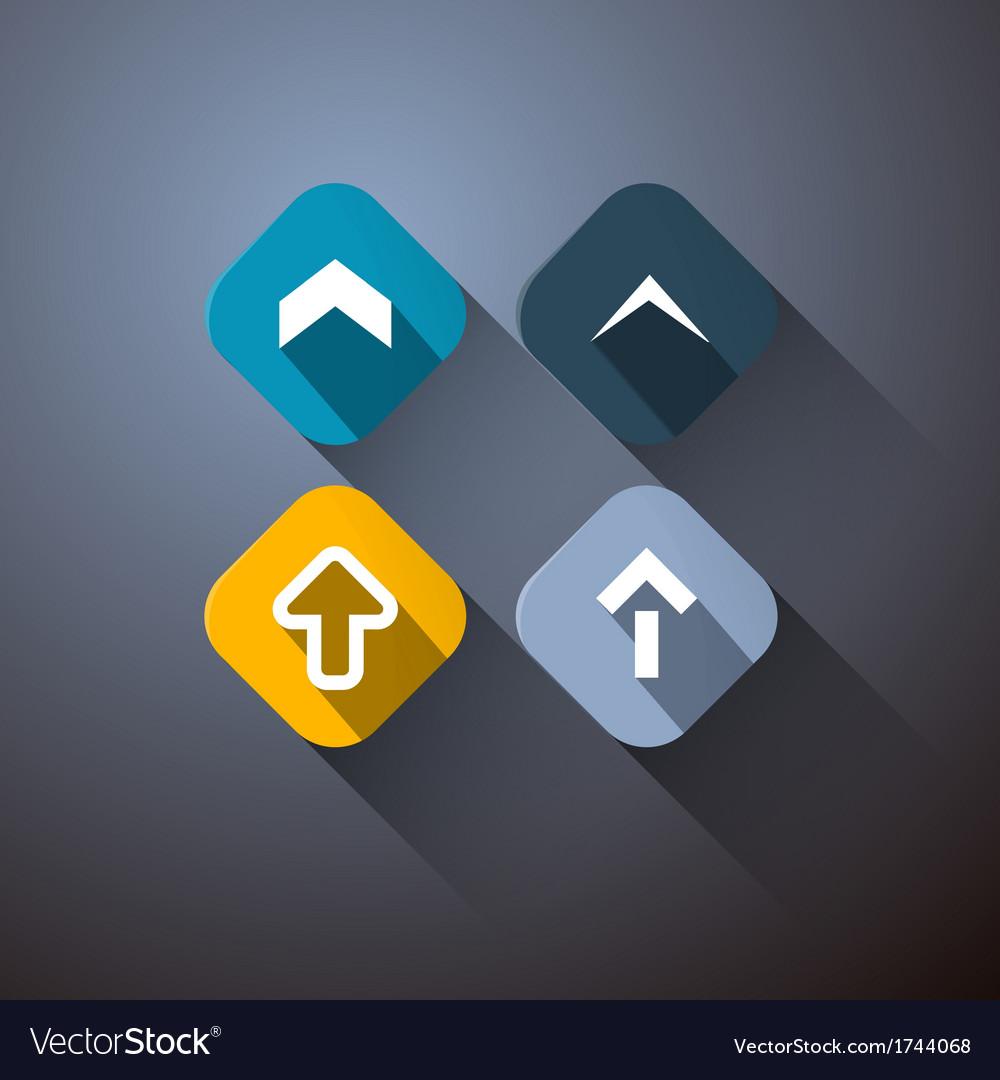 Retro arrows set on dark background vector | Price: 1 Credit (USD $1)