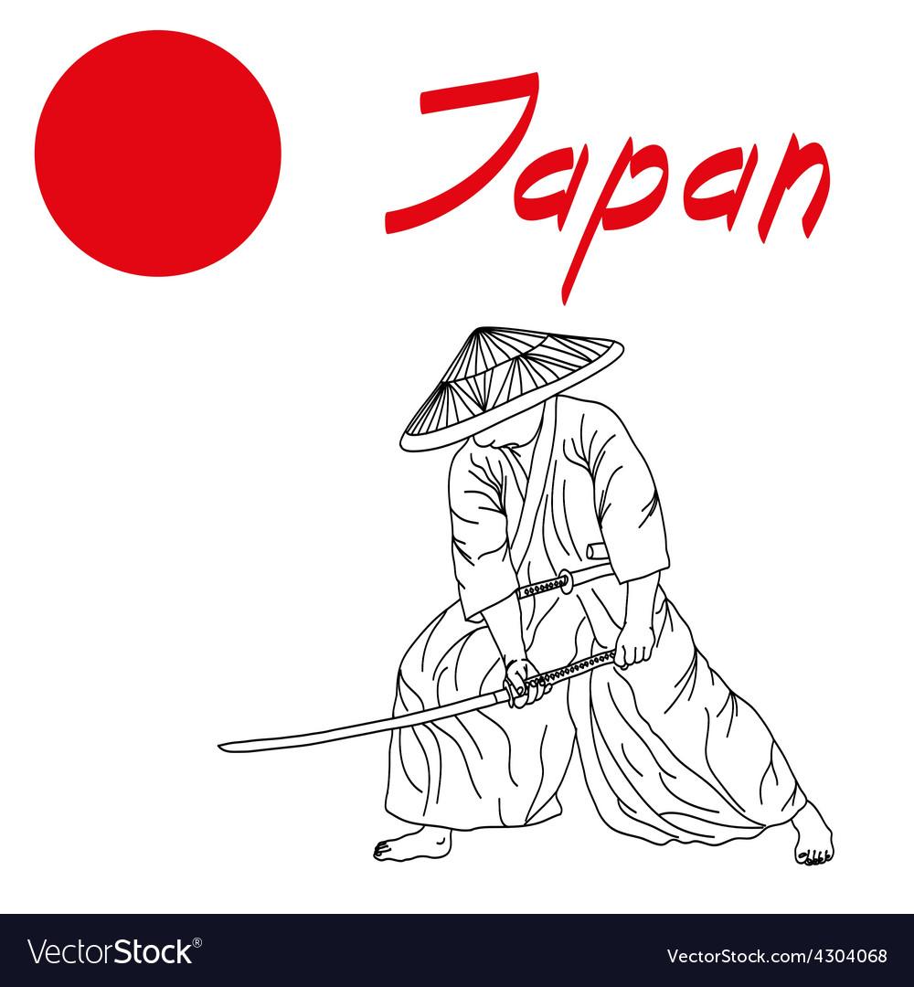 Samurai vector | Price: 1 Credit (USD $1)