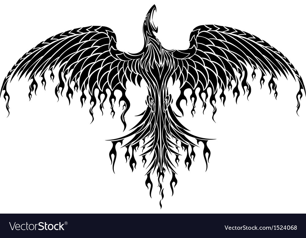 Tattoo tribal phoenix vector | Price: 1 Credit (USD $1)