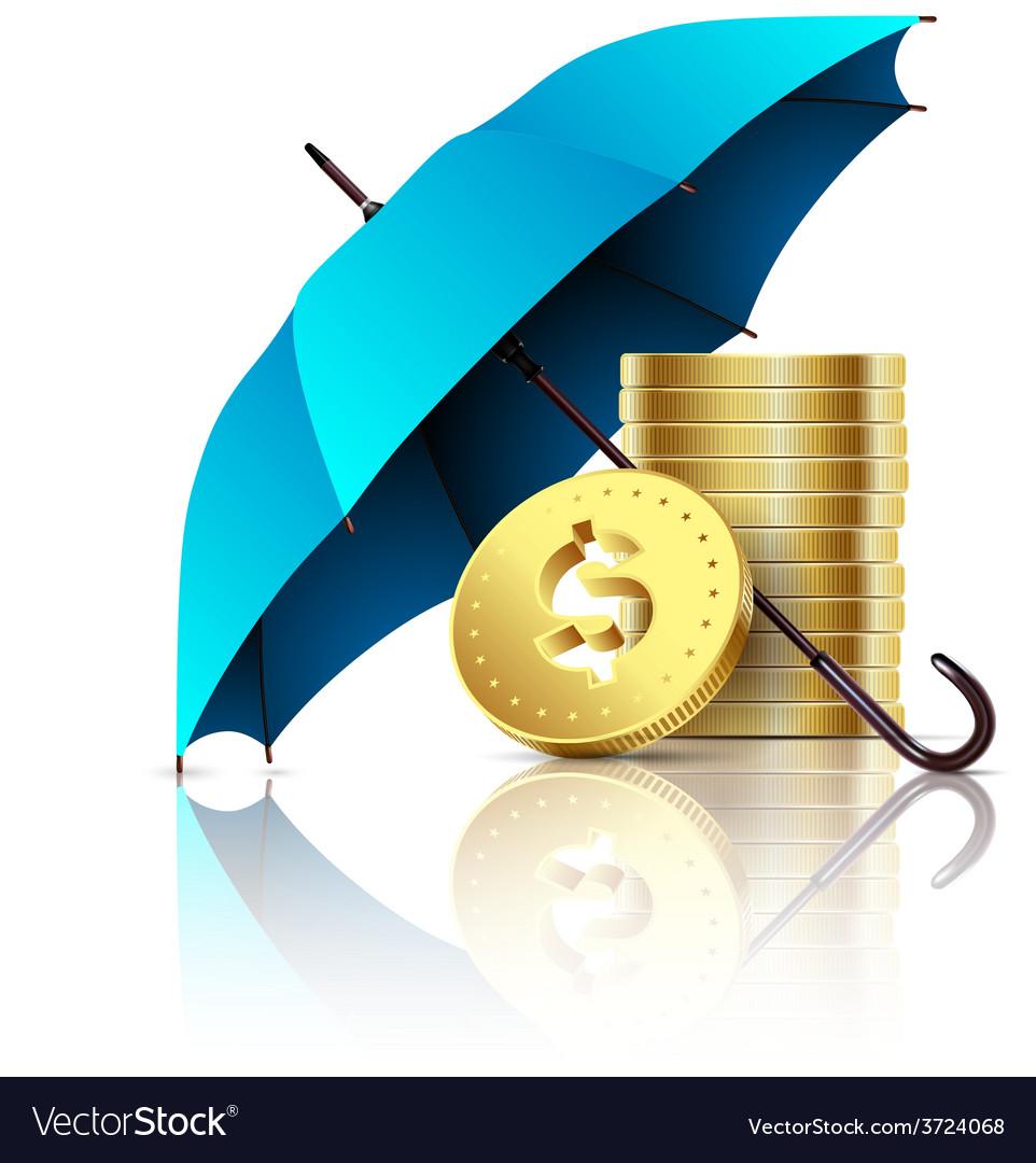 Umbrella and money vector | Price: 1 Credit (USD $1)
