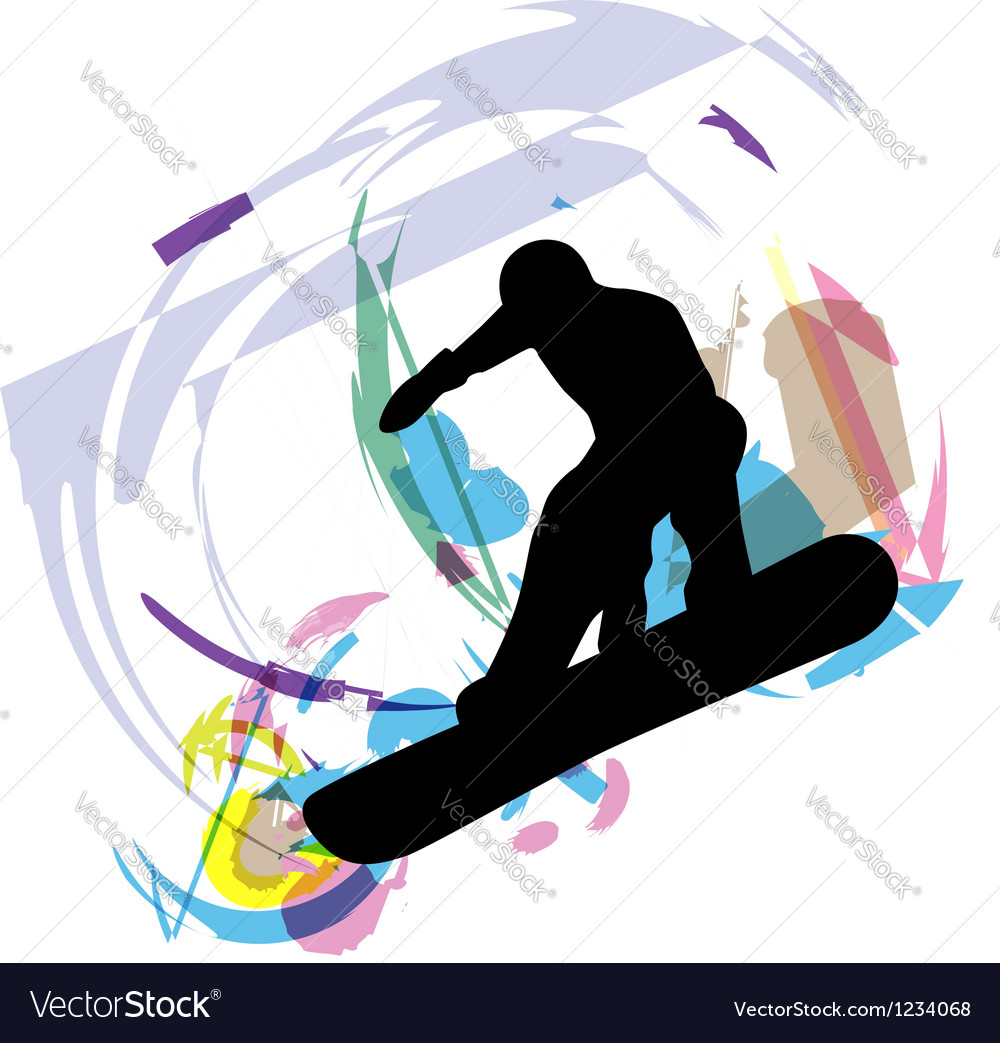 Wake boarder in action vector   Price: 1 Credit (USD $1)