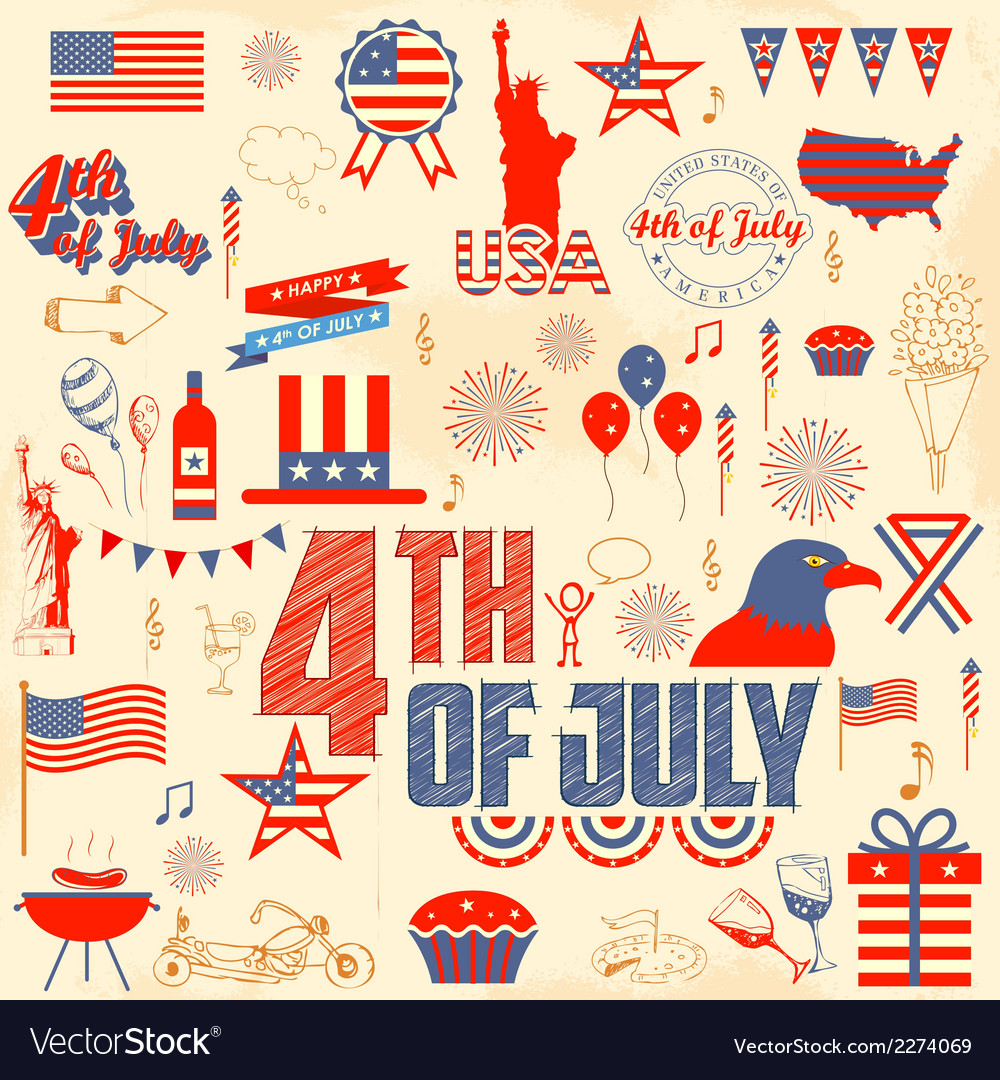 4th of july design element vector | Price: 1 Credit (USD $1)