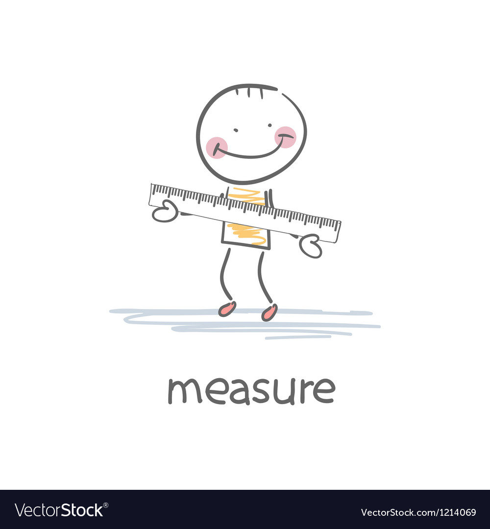 A person with a ruler vector | Price: 1 Credit (USD $1)