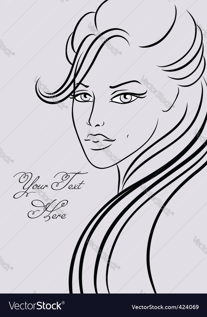 Beautiful girl in fashion style vector | Price: 1 Credit (USD $1)
